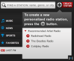 playercreate Last.fm Trends: Listen To Artist Based Streams On Radio.coms New Personalized Player